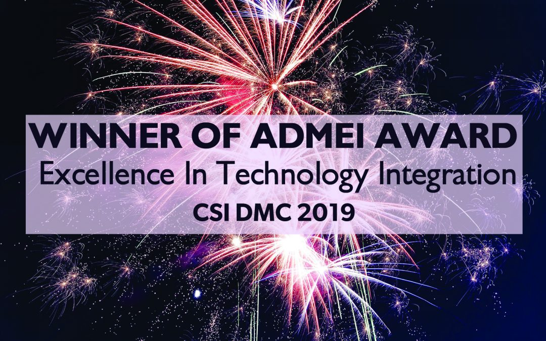 WINNER: ADMEI 2019 Award!