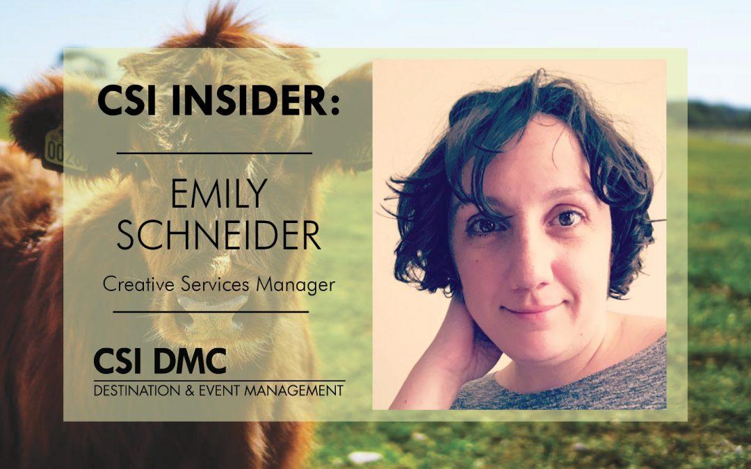 CSI Insider: Hello Emily Schneider!