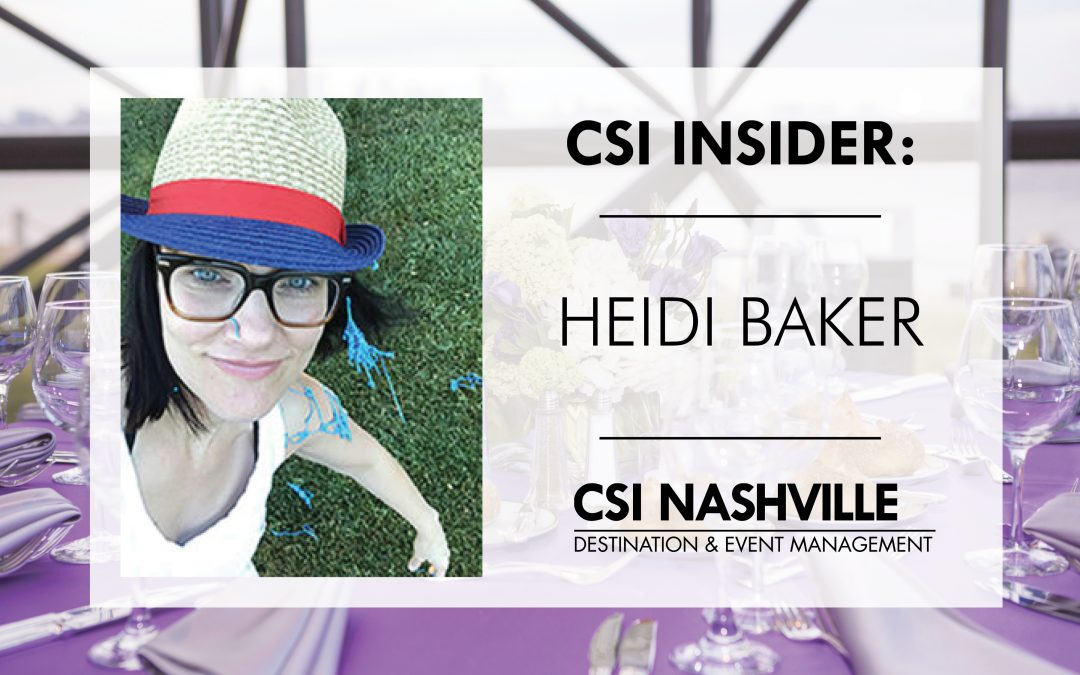 CSI Insider: Backstage with Heidi Baker of CSI Nashville!